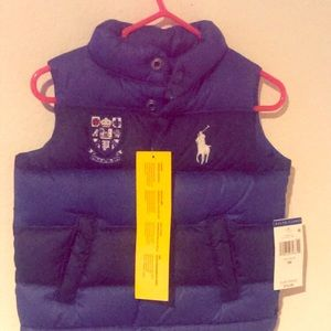 Blue and Black Polo Vest